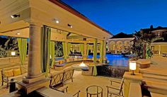 Outdoor Seating Area and Swimming Pool - as seen on HGTV's Million Dollar Rooms (Hidden Hills, CA)