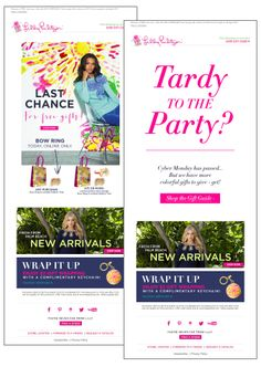 The call-to-action in this holiday email from Lilly Pulitzer completely changed if the recipient opened it after Cyber Monday when the special offers had passed. #emailmarketing #holidayemail #retail #realtime