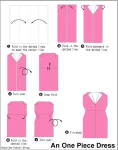 A very easy origami dress