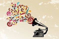 music, abstract swirl, color, wall decals, backgrounds