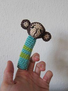 free monkey finger puppet pattern