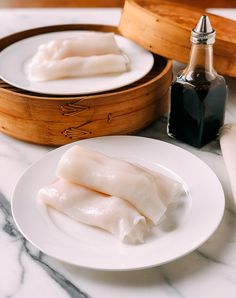 "Shrimp Rice Noodle Rolls (Shrimp Cheung Fun or ""Ha Cheung"") recipe by The Woks of Life"
