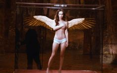 Megan Fox topless angel, for more photos see the gallery http://www.famousnakedcelebrities.com/movie-stars/megan-fox-nude/  #MeganFox #nude #topless #model