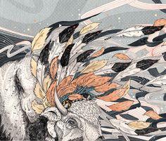 Magic Breeze // A4 print by SandraDieckmann on Etsy, £11.00