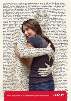 Hug a Book!  Send a Letter! Say what is in your Heart!