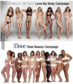 The difference between Victorias Secret and Dove.