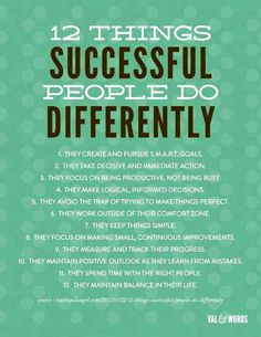 differ, 12 thing, successful people, thought, inspir, thing success, success peopl, quot, motiv