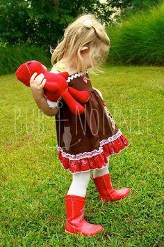 Gingerbread Girl Tank Dress//Custom Dress//Christmas Dress