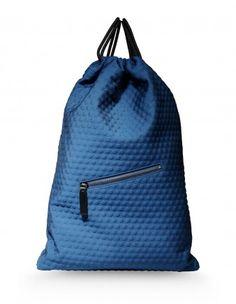 Jil Sander Blue Backpack - Shop chic ways to try the normcore trend: http://shop.harpersbazaar.com/trends/normcore/