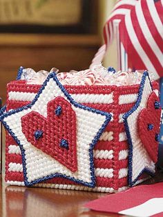 Hearts, Stars & Stripes Container