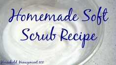 Homemade soft scrub recipe - simple, frugal, and eco-friendly! {on Household Management 101} soft soap, scrub cleanser, soft scrub