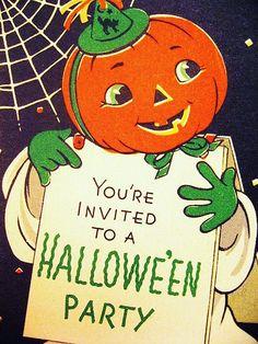 Vintage Halloween Invitation