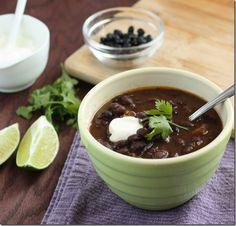 Slow Cooker (dump-no prep) Chipotle Lime Black Bean Soup