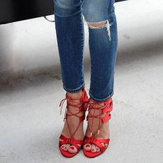 red shoes, killer heels, fall accessories