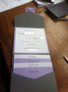 DIY wedding invitations