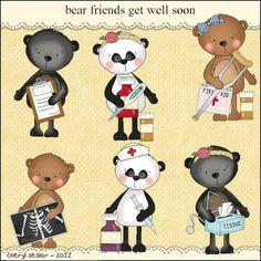 bear friends get well soon from Primsical resale clip art
