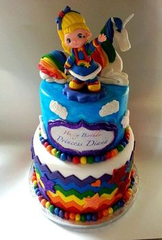 Aww i used to love this as a kid!! amazing. Rainbow Brite Cake