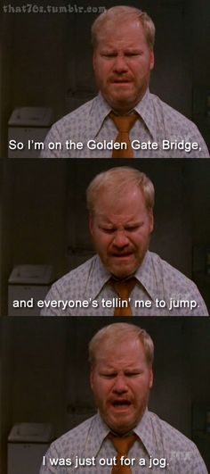 Poor Jim Gaffigan... jogging, golden gate bridge, hot pockets, funni, gates, bridges, quot, meme, jim gaffigan
