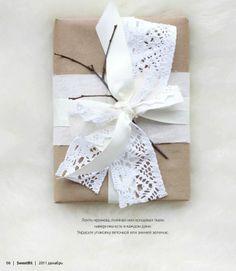 lace + ribbon + twig