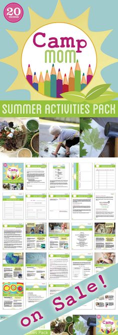 Camp Mom Summer Activities Pack ebook! Turn the backyard and your summer in to the best place to be!