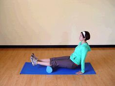 How to roll out tight/sore calves with a foam roller--great for runners!