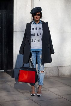 boyfriend jeans, fashion weeks, louis vuitton, fashion models, bag, outfit, street styles, london fashion, hat