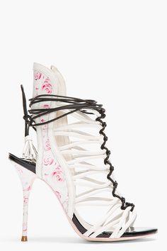 Sophia Webster Rose Print Cage Heels