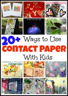 20+ Ways to use Contact Paper with Kids - go buy some contact paper now and have some fun with your kids. From www.messforless.net #kids