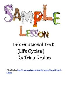 Free Common Core Sample Lesson from Informational Text Unit