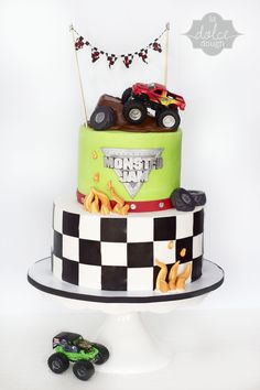 Monster Trucks Cake - La Dolce Dough, Sylvania Ohio