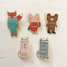 Now in stock! Donna Wilson Enamel Brooches! http://www.donnawilson.com/74-brooches