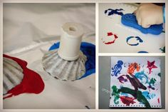 diy shell stamps and more ocean activities from Maybe at the beach...or when we get back!