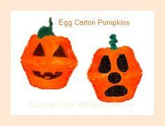 Egg carton pumpkins