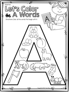 Let's Learn The Letter A FREEBIE