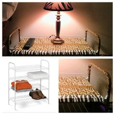 Diy animal print bed side table and shelves spice up a white 3 tier