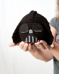 Crochet Hat: Star Wars inspired Darth Vader Hat, Beanie baby hat. $25.00, via Etsy.