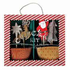 CanadianFamily - Shop | Jingle All The Way Cupcake Kit By Meri Meri