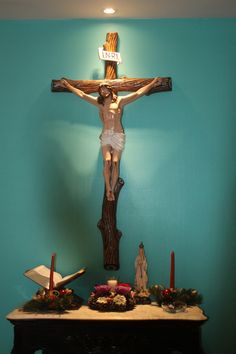 Catholic Home Altar idea