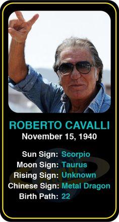 Celeb #Scorpio birthdays: Roberto Cavalli's astrology info! Sign up here to see more: https://www.astroconnects.com/galleries/celeb-birthday-gallery/scorpio?start=120  #astrology #horoscope #zodiac #birthchart #natalchart #robertocavalli