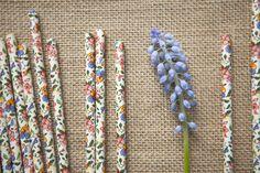Pretty Floral Paper Straws