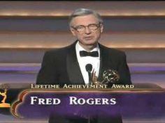 Mr. Roger's acceptance speech for Lifetime Achievement Award
