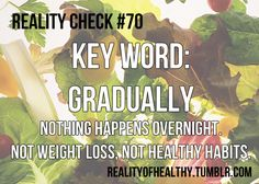 The Reality of Health and Weight Loss