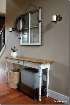Creating A Welcome Window For Guests Using An Old Window, Cast Iron Hooks And A Sweet Greeting