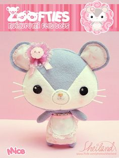 Zoofties :: Mice by Sheiland, via Flickr