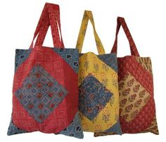 #FairTrade #EcoFriendly #Handmade in #India  Can this bag get any sweeter? It's pretty big too. $17.95