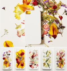 Make a pressed flower iPhone case.