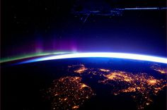 Ireland, Northern Ireland, Scotland, England, Wales (with Northern Lights)    Credit: ESA/NASA
