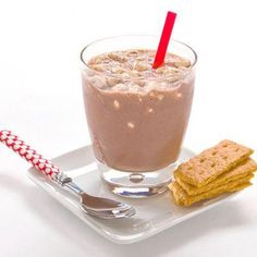 Healthy S'mores Milkshake:  1 scoop Chocolate Shakeology®  1/4 tsp cinnamon  1 cup vanilla almond milk  2 drops vanilla extract   1 tbsp ground, sugar-free graham cracker sprinkled on top