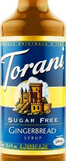 Sugar Free Gingerbread Torani Syrup