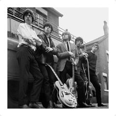 The Rolling Stones with guitars, 1964 #OneMoreShot #RollingStones50